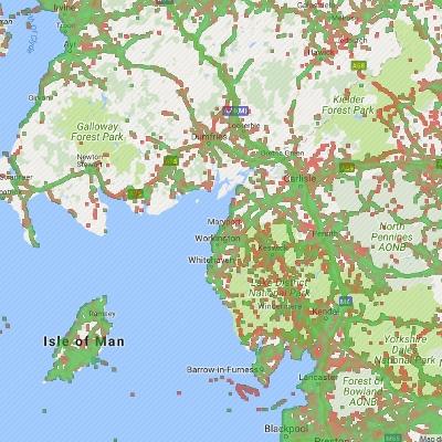 4G Coverage in North United Kingdom